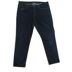 Michael Kors Izzy cropped skinny jeans dark wash